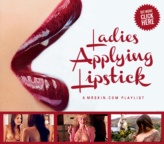 Celebrity Ladies Applying Lipstick