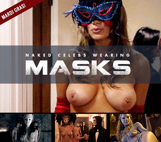 Naked Celebs Wearing Masks